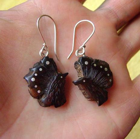 EARRINGS NA - 023 MEXICAN WOOD