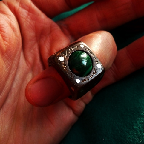 RING PR-027 OAK - MALACHITE