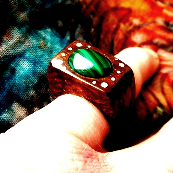 RING PR-028 - ELM - MALACHITE