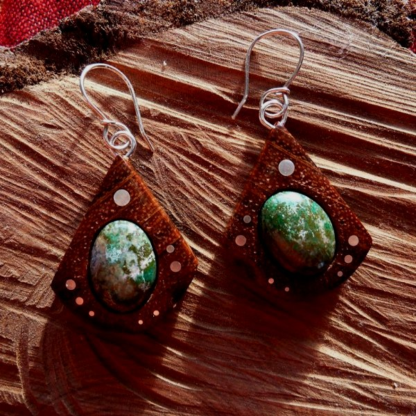 EARRINGS NA - 040 EXOTIC - JASPIS