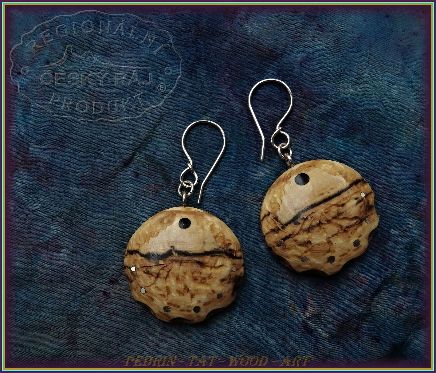 WOODEN EARINGS NA-199 BEECH wood