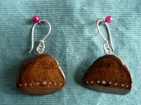 EARRINGS NA-015 - OAK