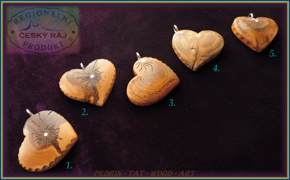 WOODEN HEART - Necklace 1-5 - Adjustable knot fixing