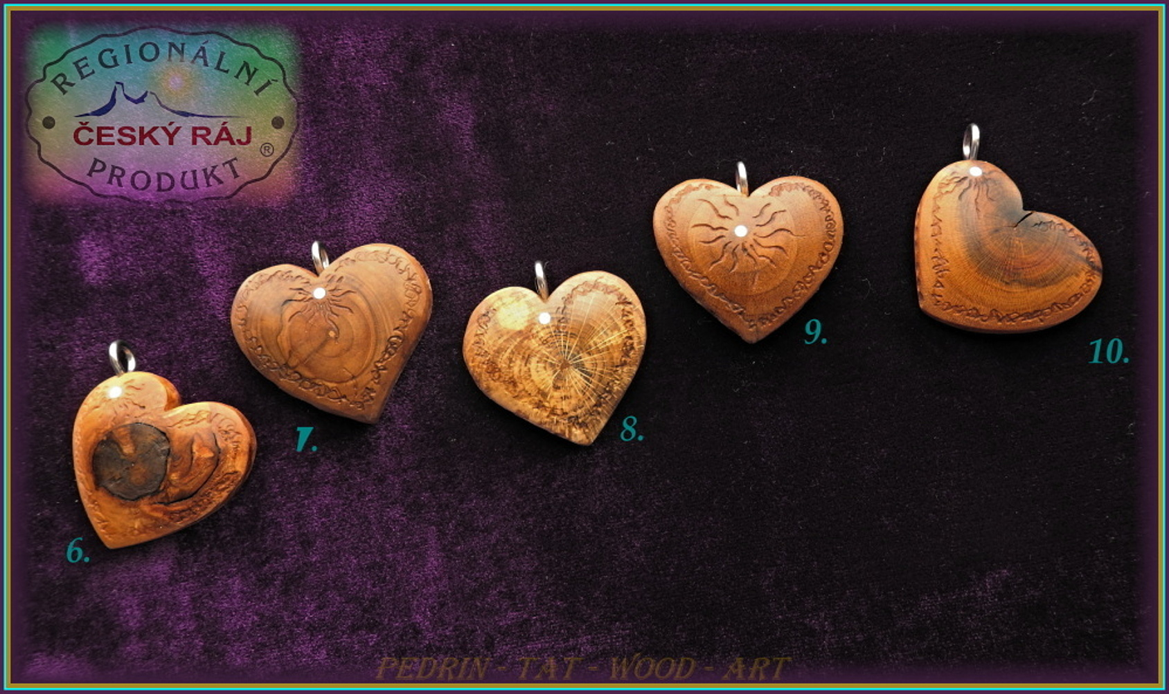WOODEN HEART - Necklace 6-10 - Adjustable knot fixing