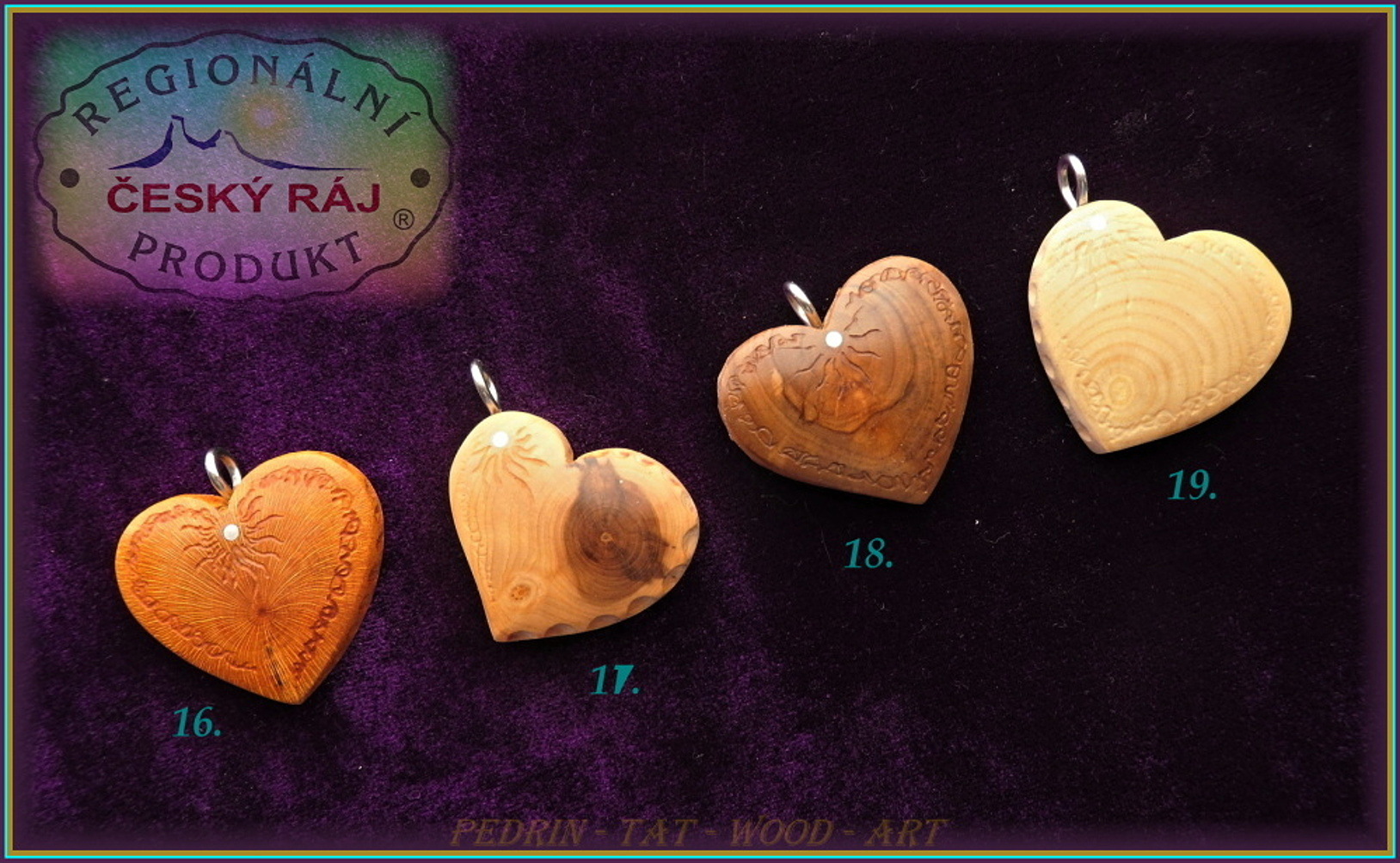 WOODEN HEART - Necklace 16-19 Adjustable knot fixing