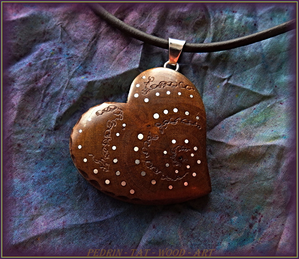 WOODEN NECKLACE NH-522 PRUNUS Wood
