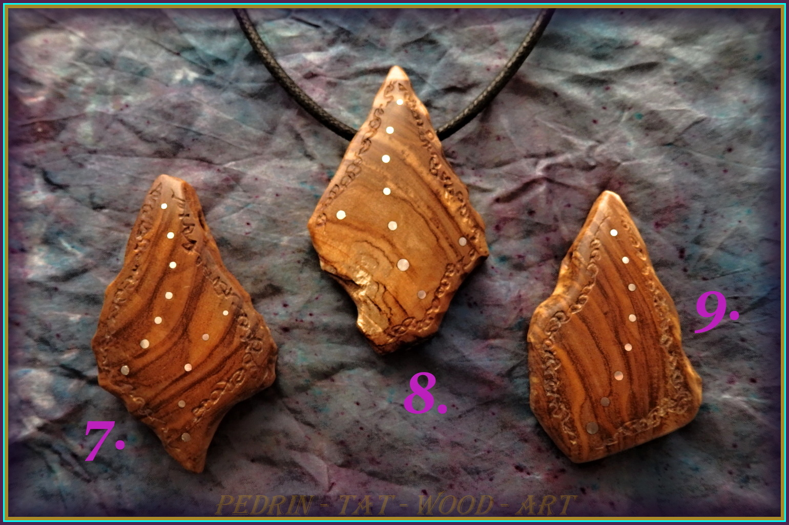 WOODEN NECKLACES - OLIVEN WOOD - SICILIA 7.8.9.