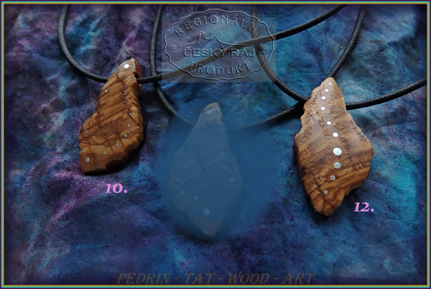 WOODEN NECKLACES NH-539 10..12 OLIVEN WOOD - SICILIA