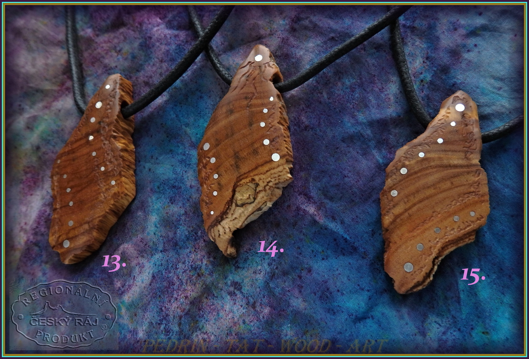 WOODEN NECKLACES NH-539 13.14.15. OLIVEN WOOD - SICILIA