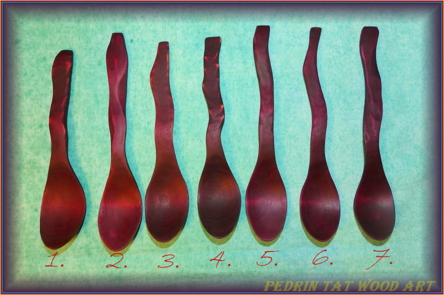 WOODEN SPOONS 1-7. - BIRCH - CHERRY - (ARONIA)