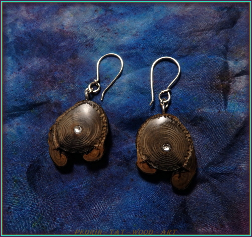 WOODEN EARINGS NA-157 - FRANCE Wersailles 5.