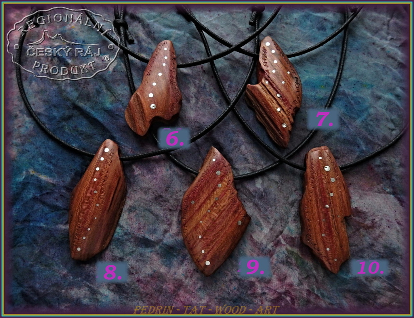 WOODEN NECKLACES NH-553 - 6.7.8.9.10 - ADJUSTABLE KNOT